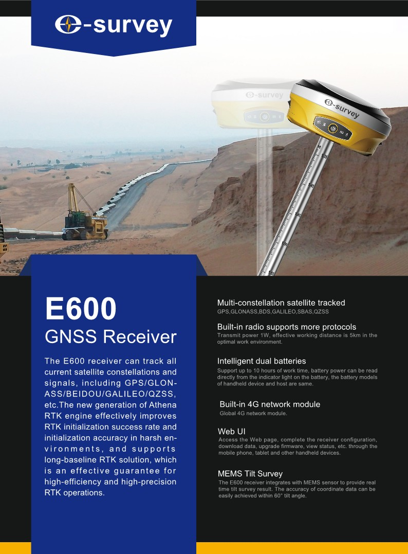 Robust RTK DGPS E600-H E-SURVEY